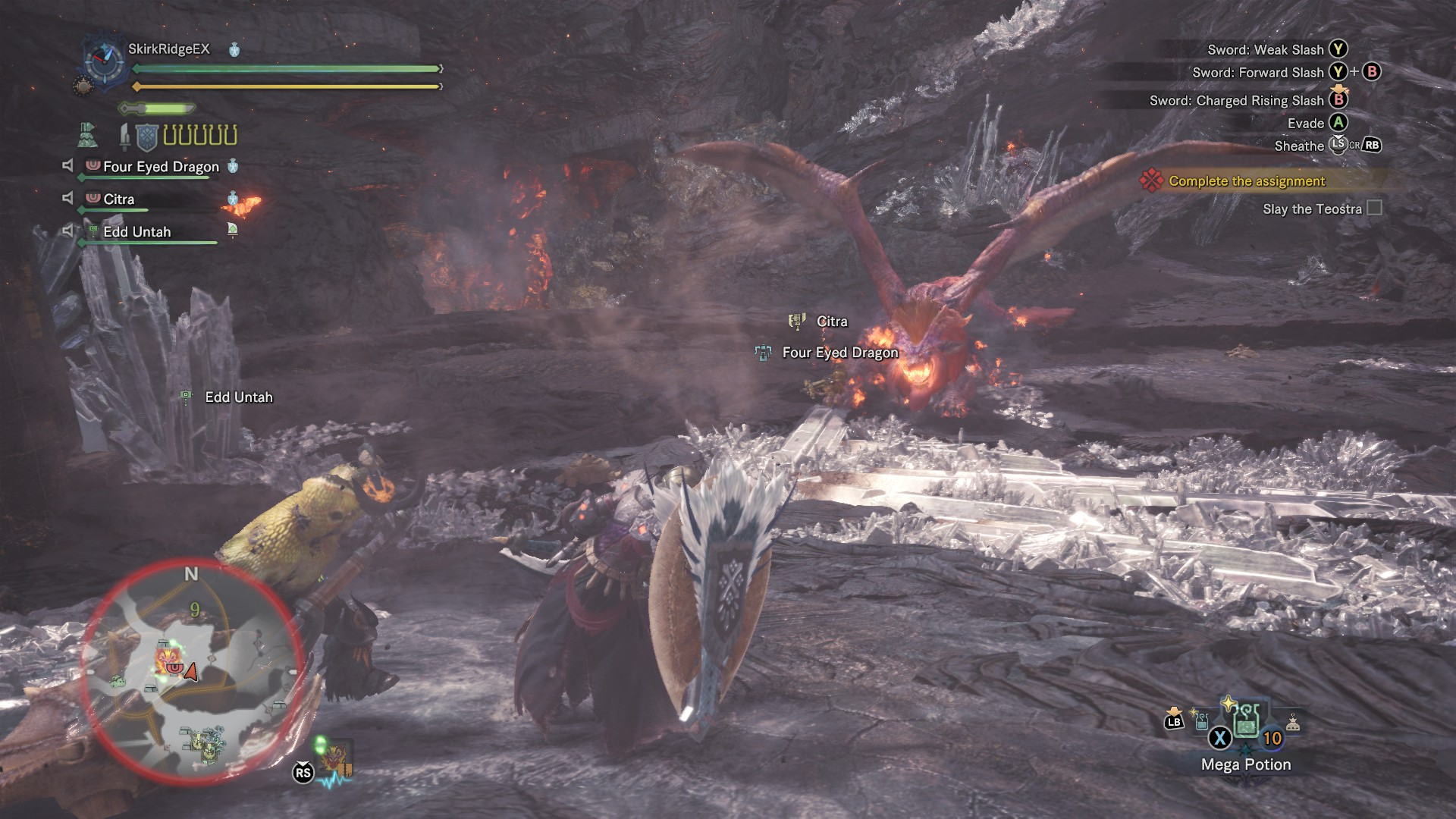 Hunters fighting Teostra.