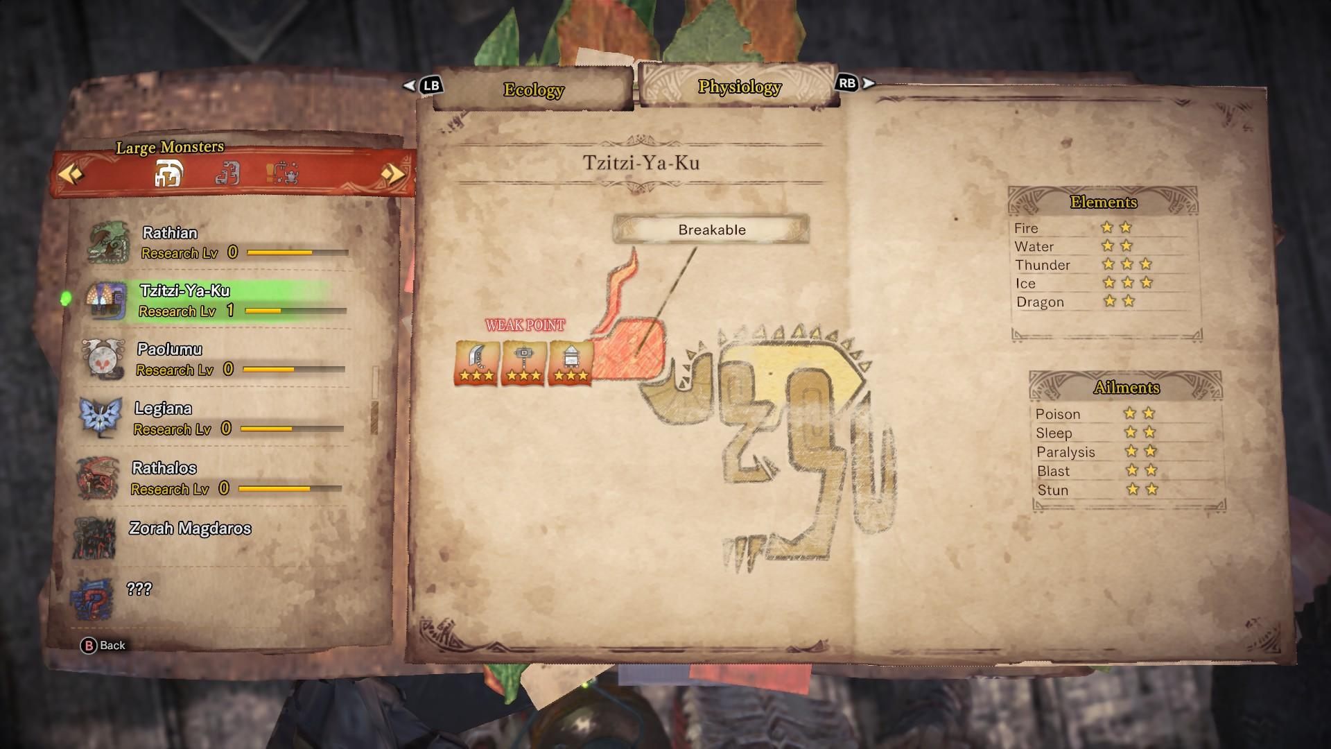 Tzitzi-Ya-Ku's entry in the monster field guide.
