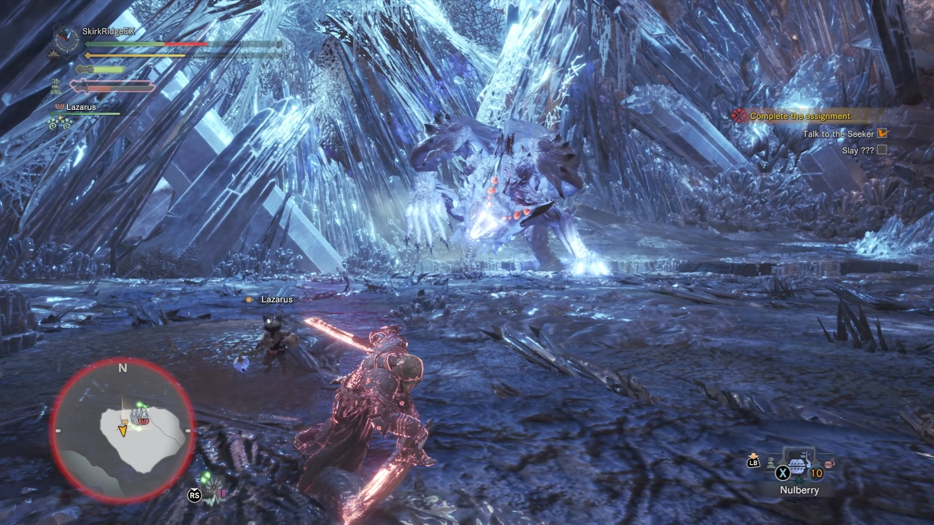 Xeno'jiiva charging in its unawakened state.