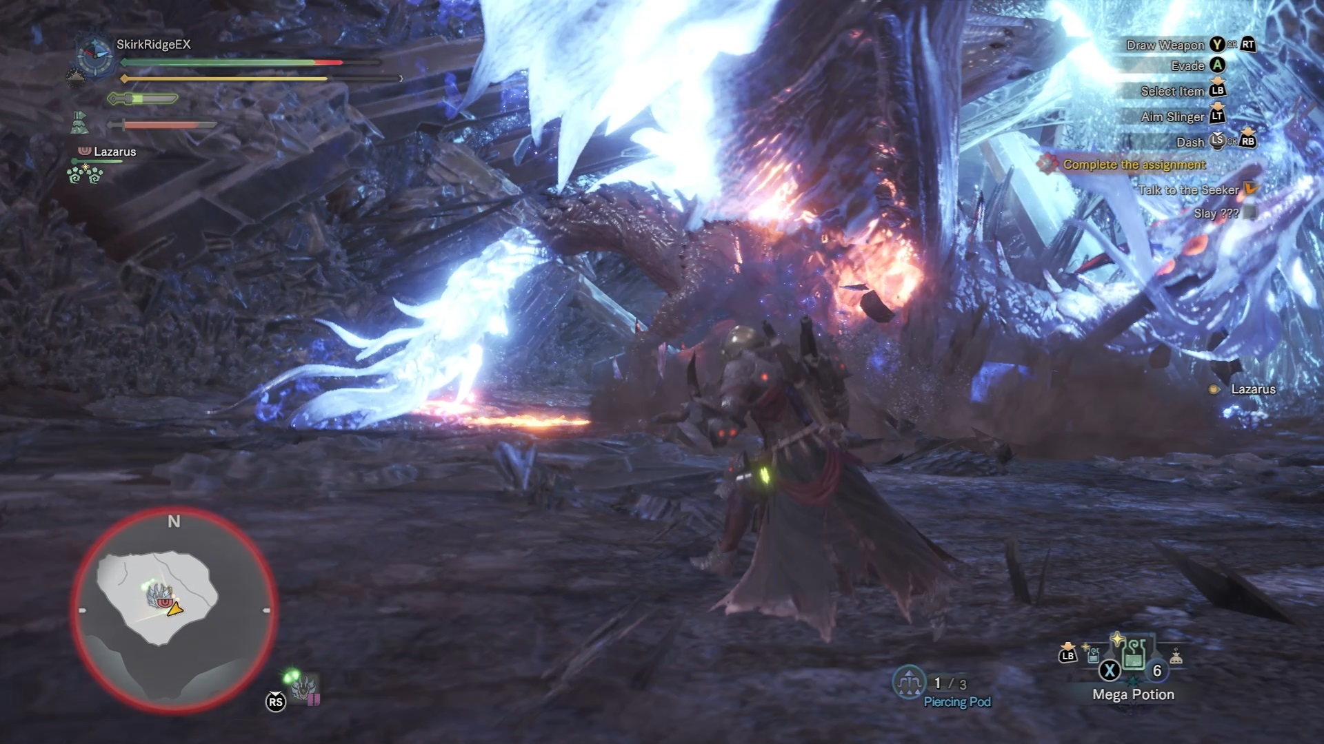 Xeno'jiiva plunges into the ground in its awakened state.