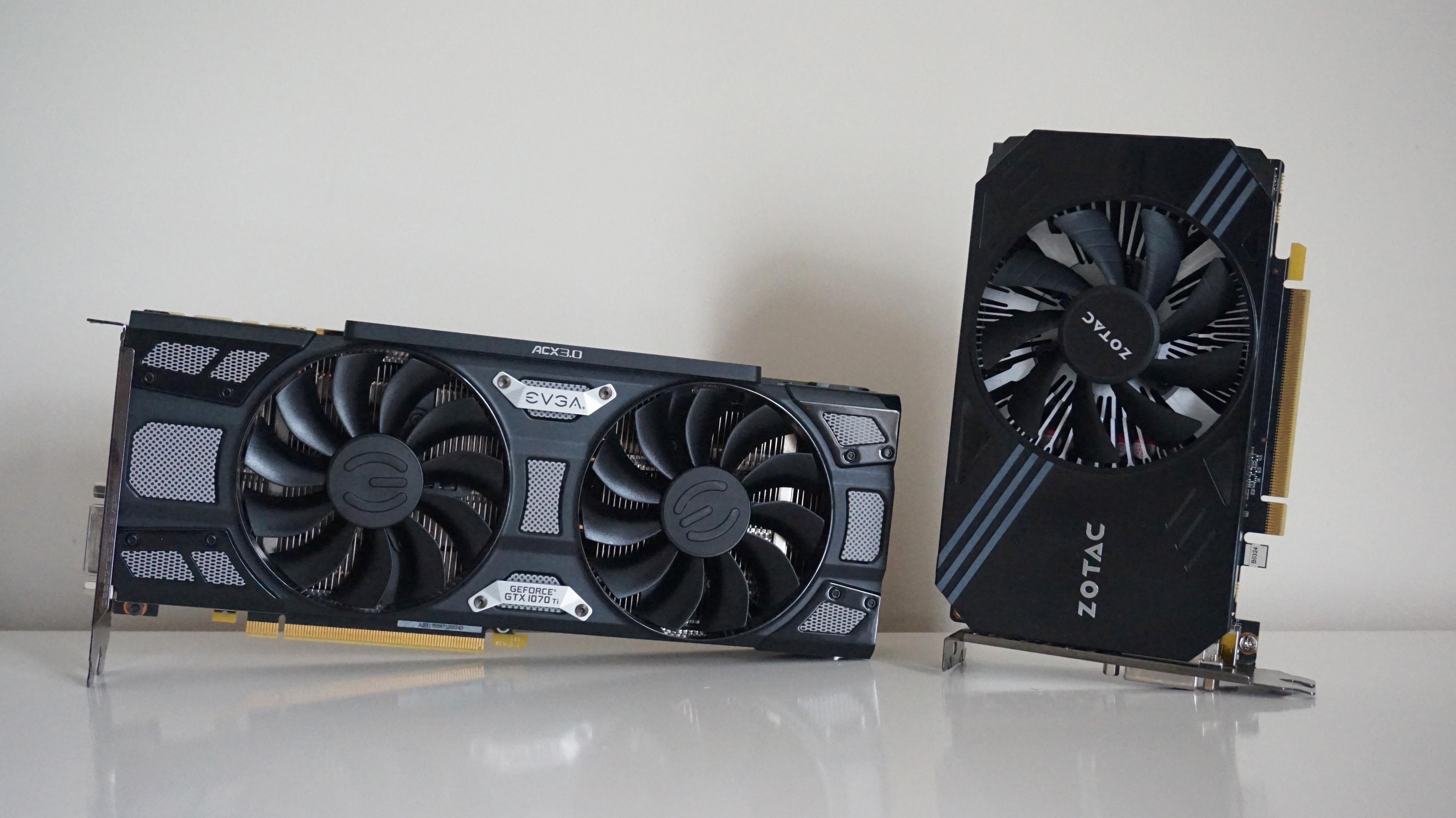 EVGA's GTX 1070Ti and Zotac's GTX 1060