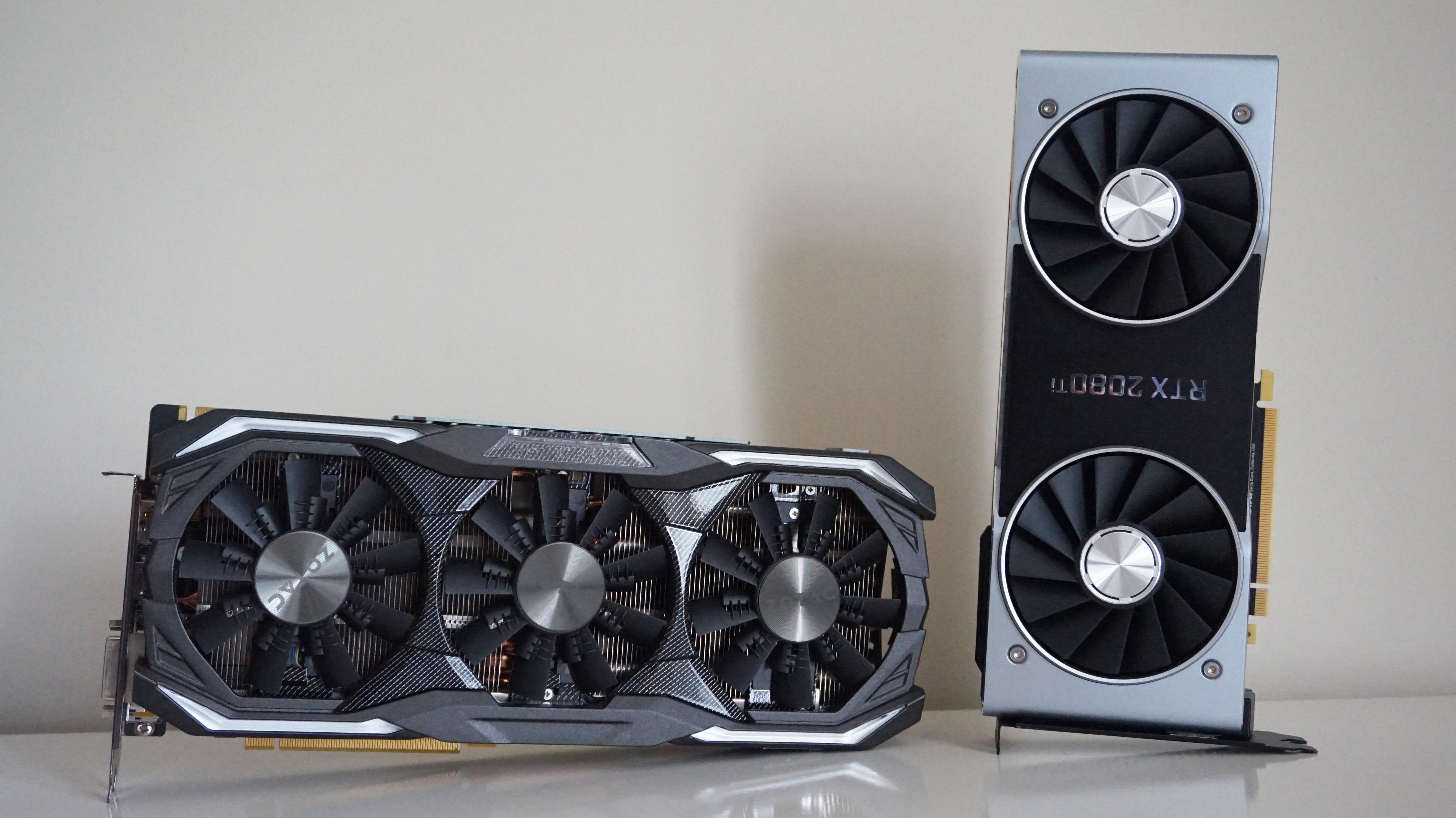 Zotac's GTX 1080 and Nvidia's RTX 2080Ti