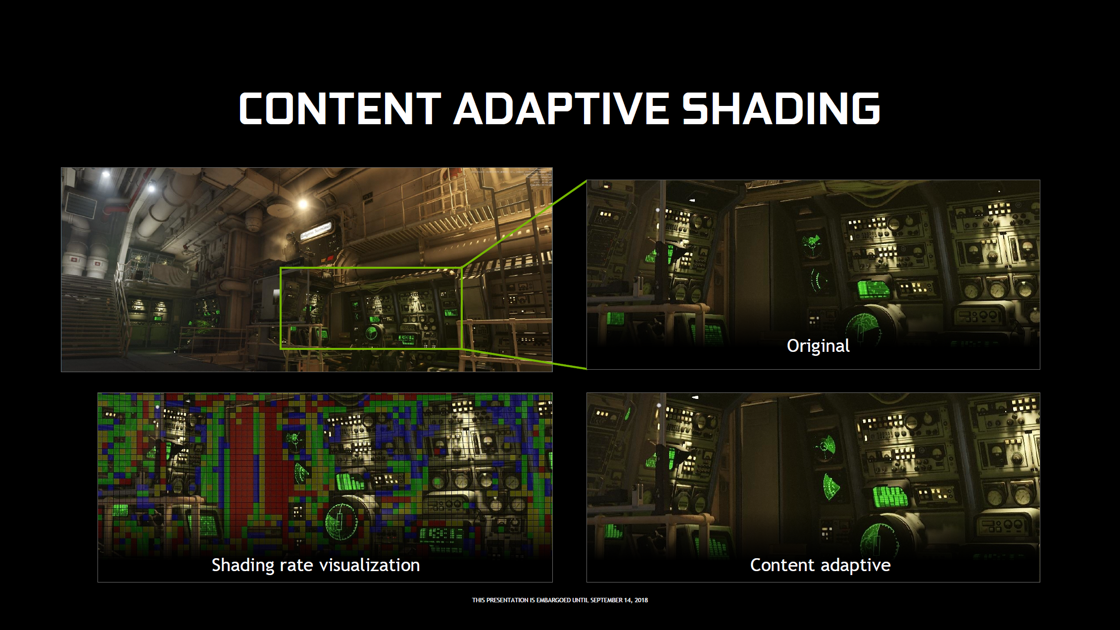 Nvidia's adaptive shading techniques applied to Wolfenstein II