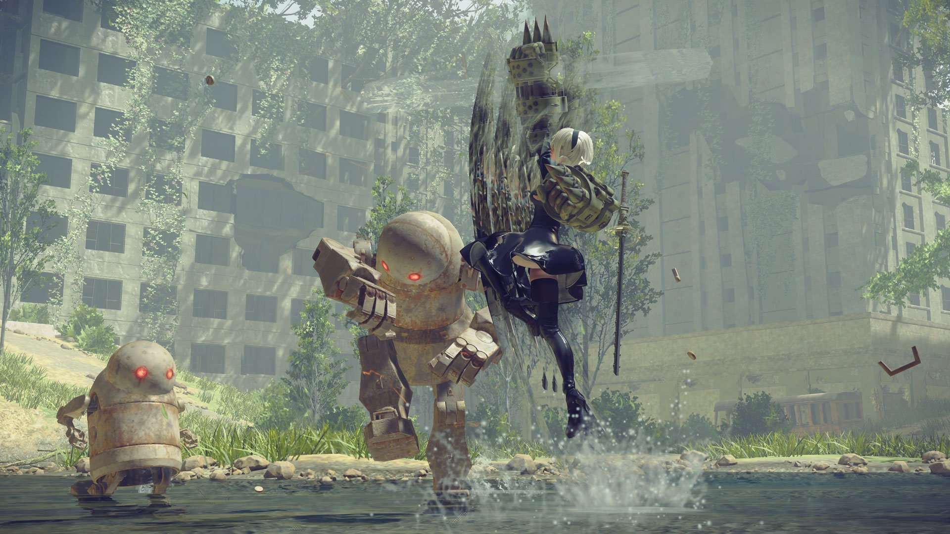 Tell me you don't now wish Nier were about dancing with robots.