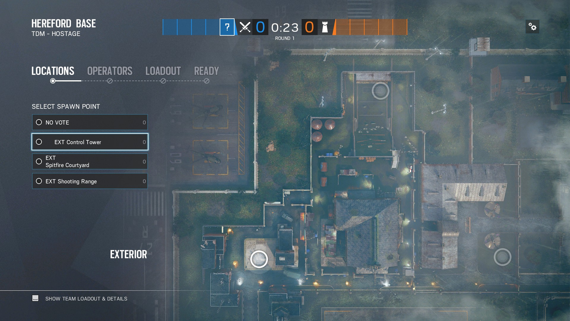 Attacking entry points for Hereford map in Rainbow Six Siege