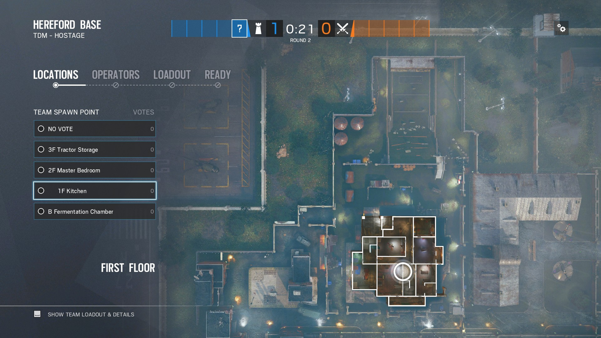 Defender objective points for Hereford map in Rainbow Six Siege