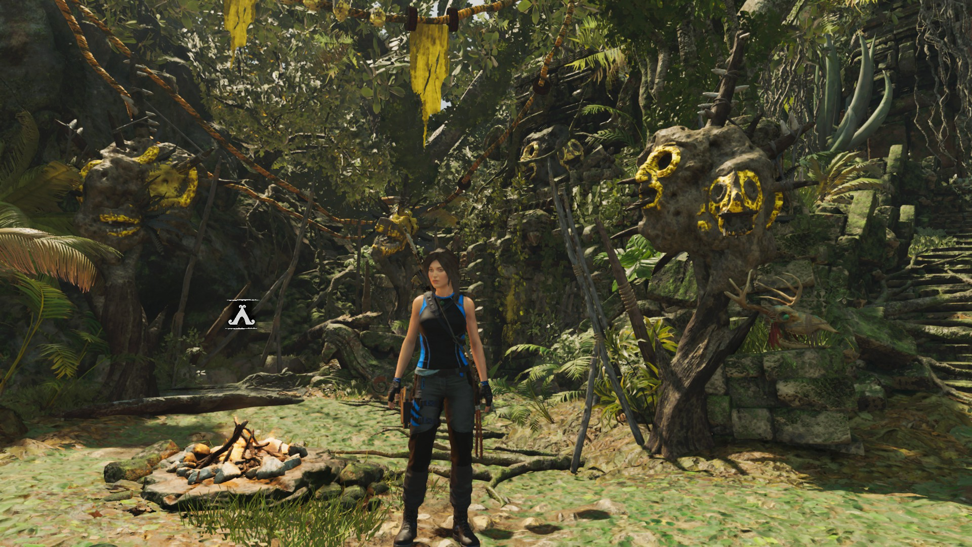 Lara outside Underworld Gate challenge tomb.