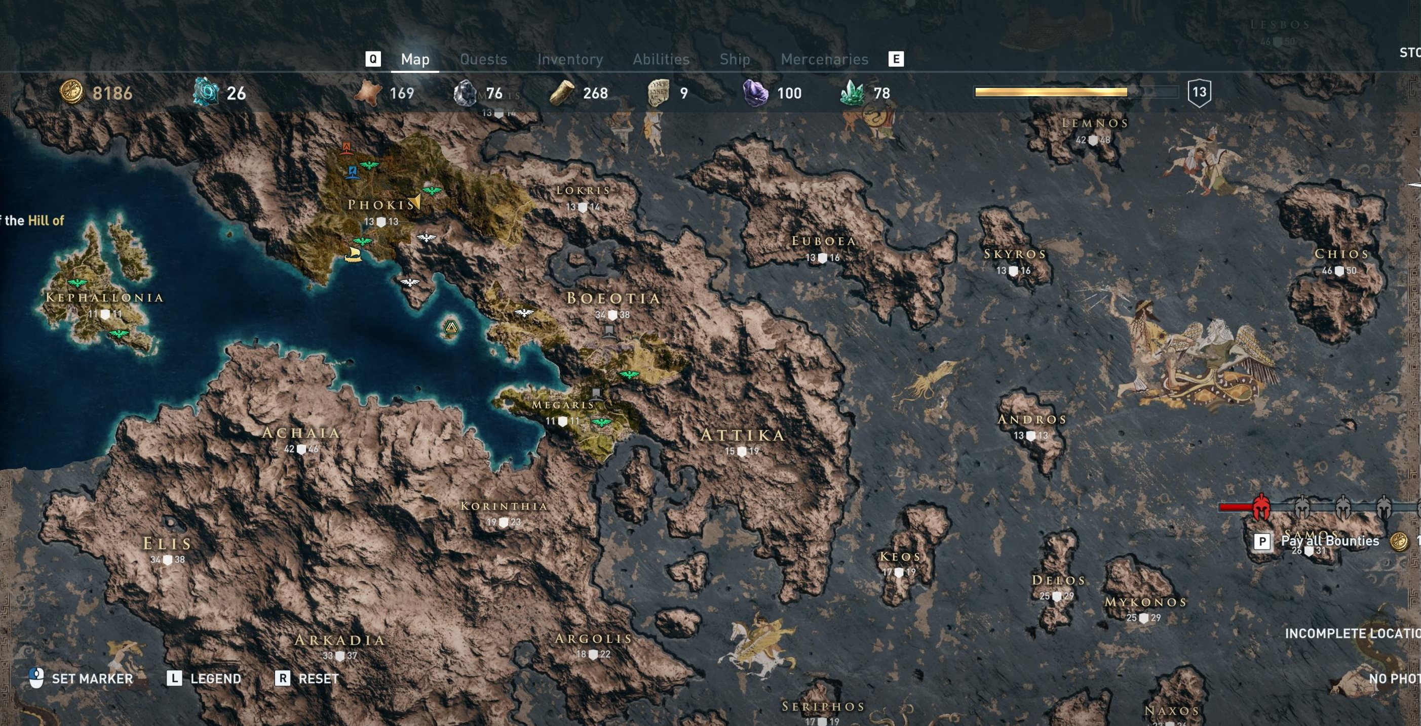 Just part of the map in Assassin's Creed Odyssey.
