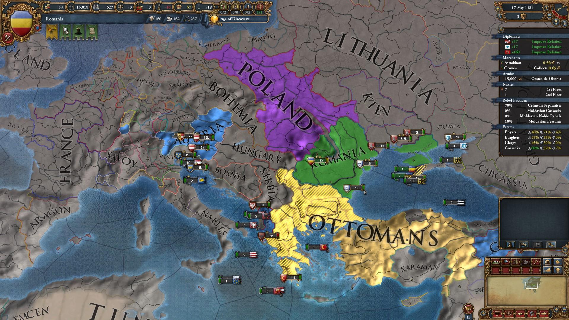 Dracula's Revenge: conquering Europa Universalis IV as