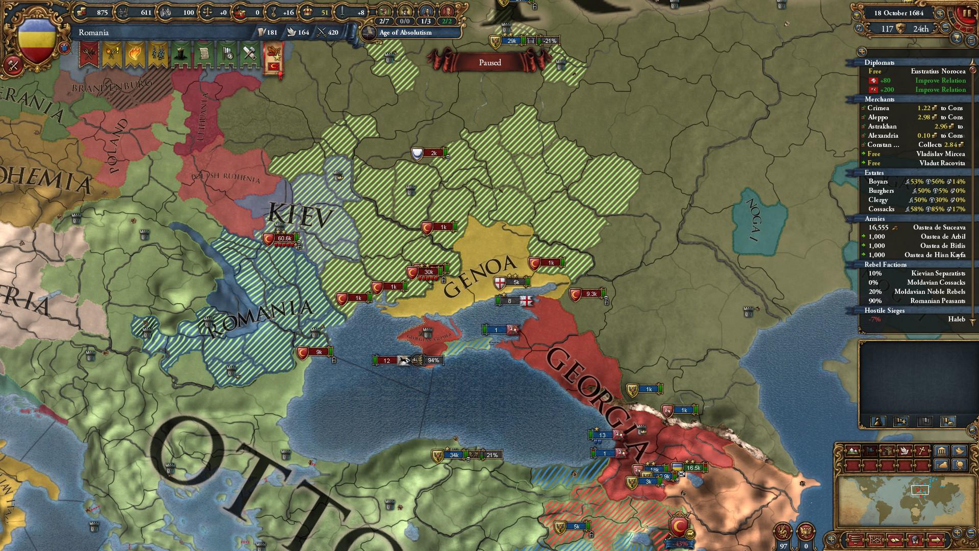 Dracula's Revenge: conquering Europa Universalis IV as Romania