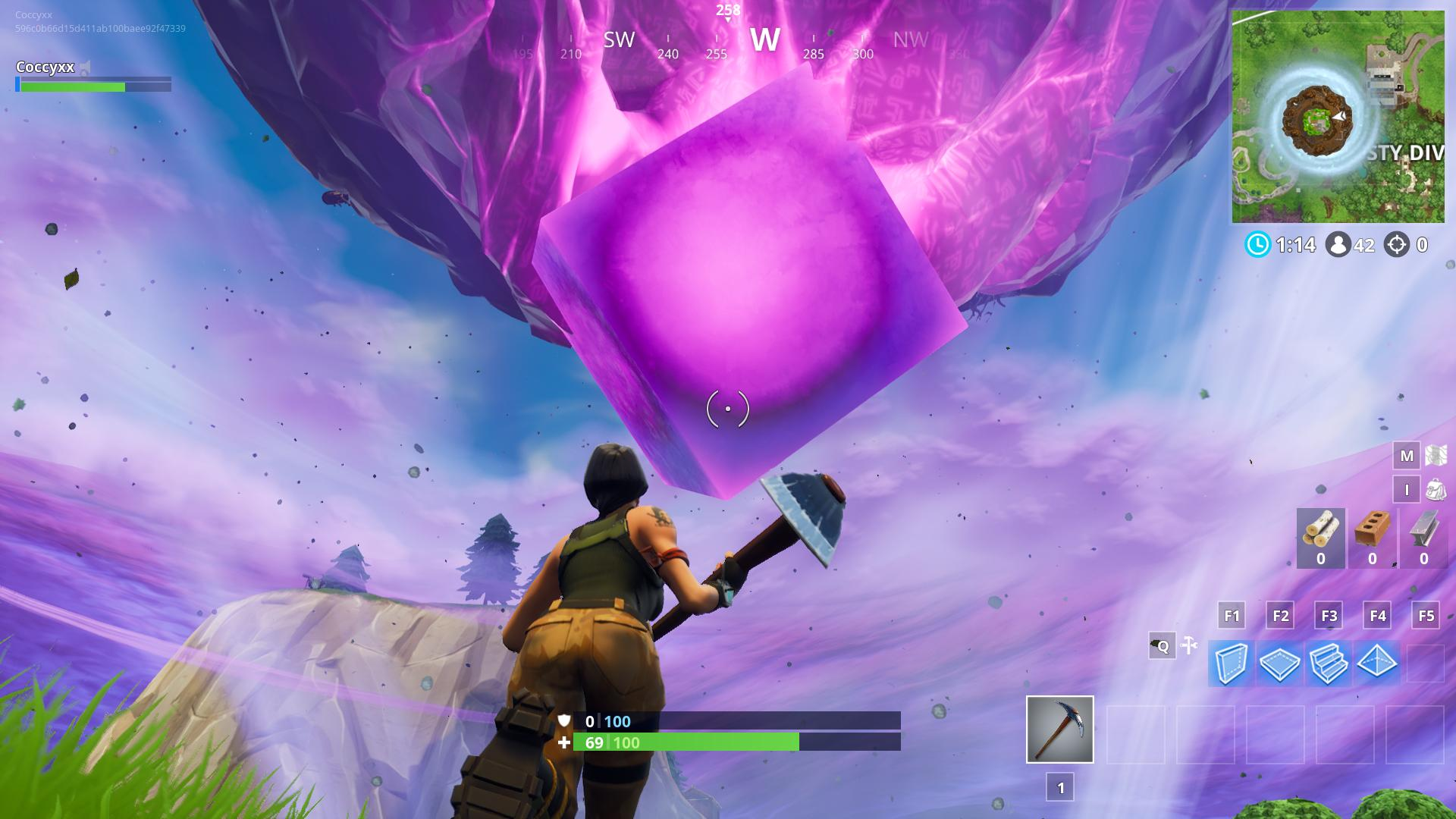 What S Going On With The Fortnite Cube Rock Paper Shotgun