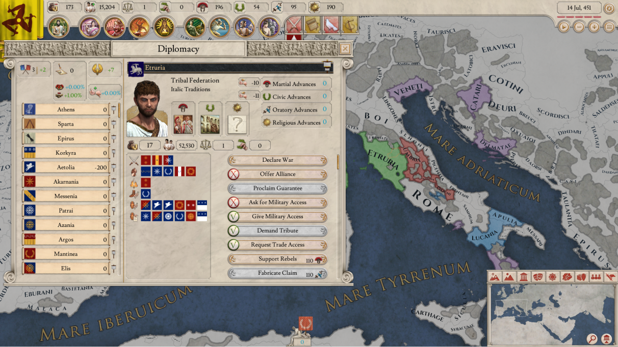 Going to war in Imperator: Rome means convincing the Senate | Rock
