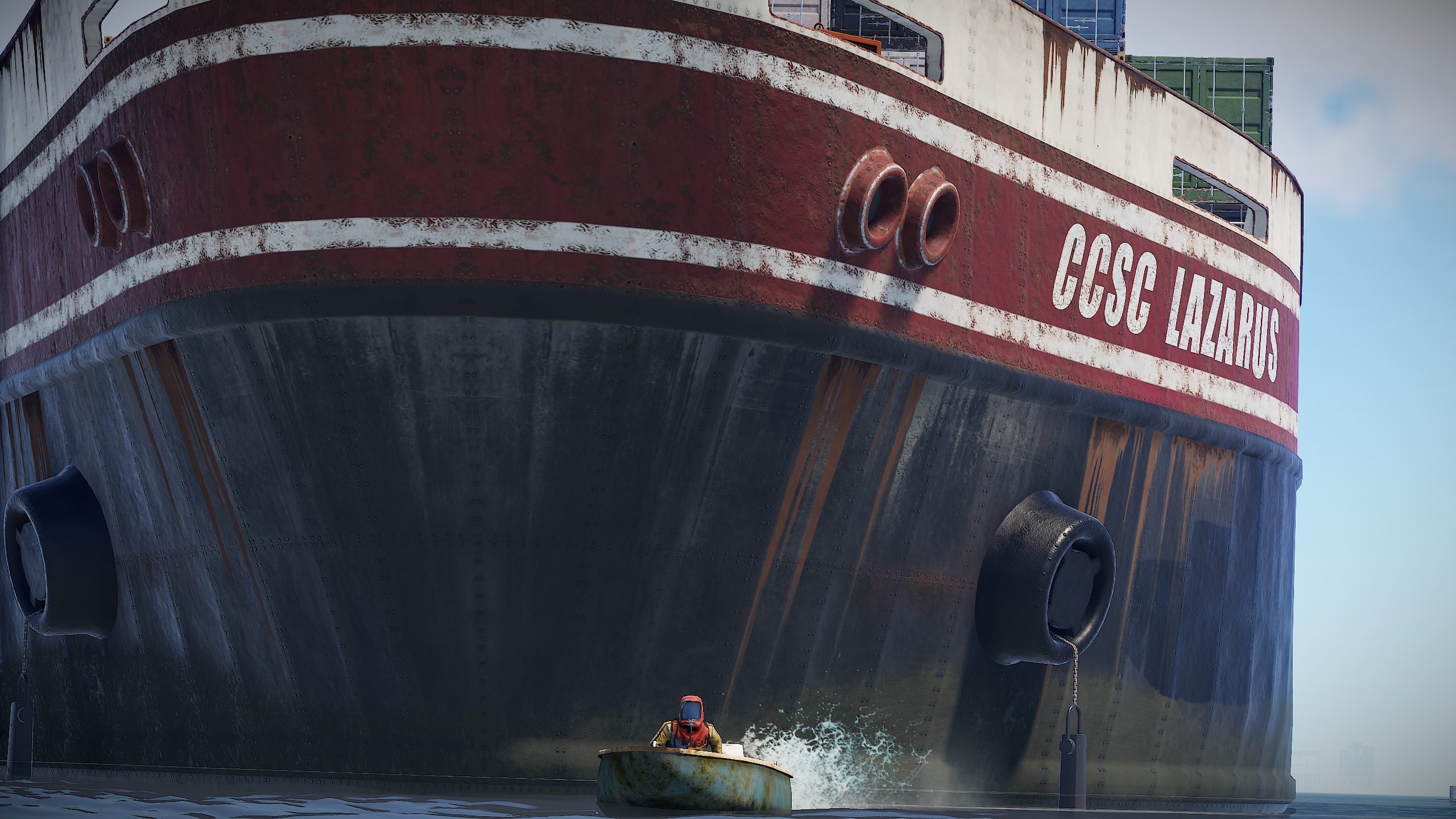 Rust has added a giant radioactive boat so that you can squabble over