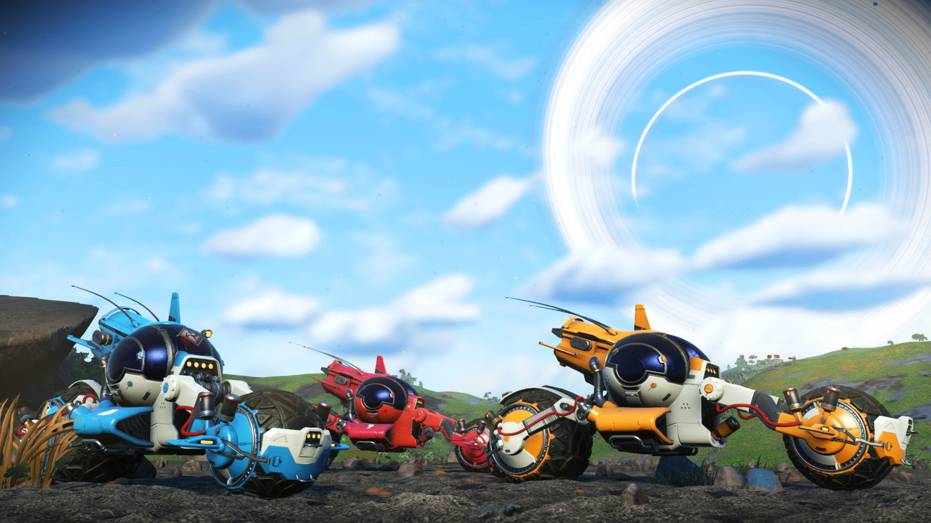 Space motorcycles and enhanced Exocraft roll into No Man's Sky today