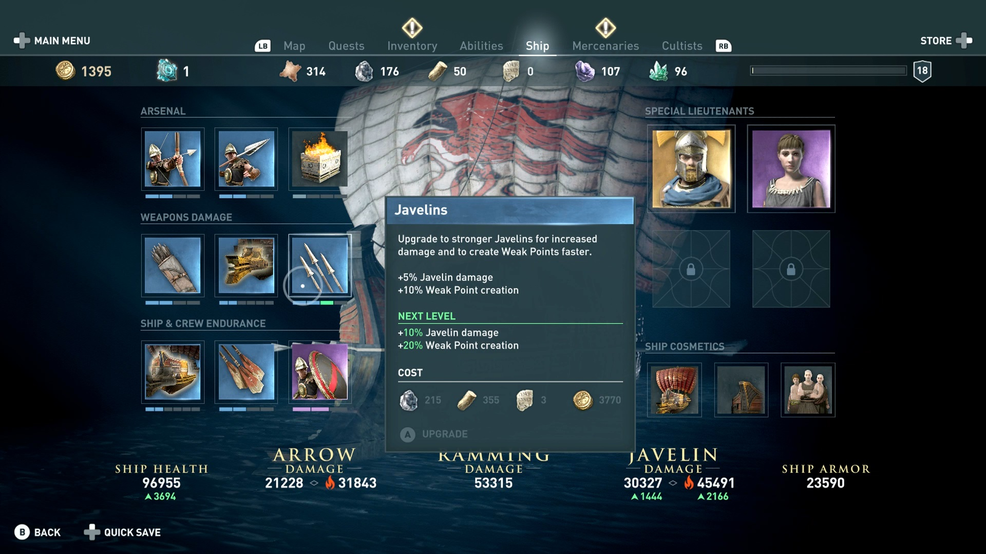 Assassin S Creed Odyssey Sailing All The Ship Cosmetics