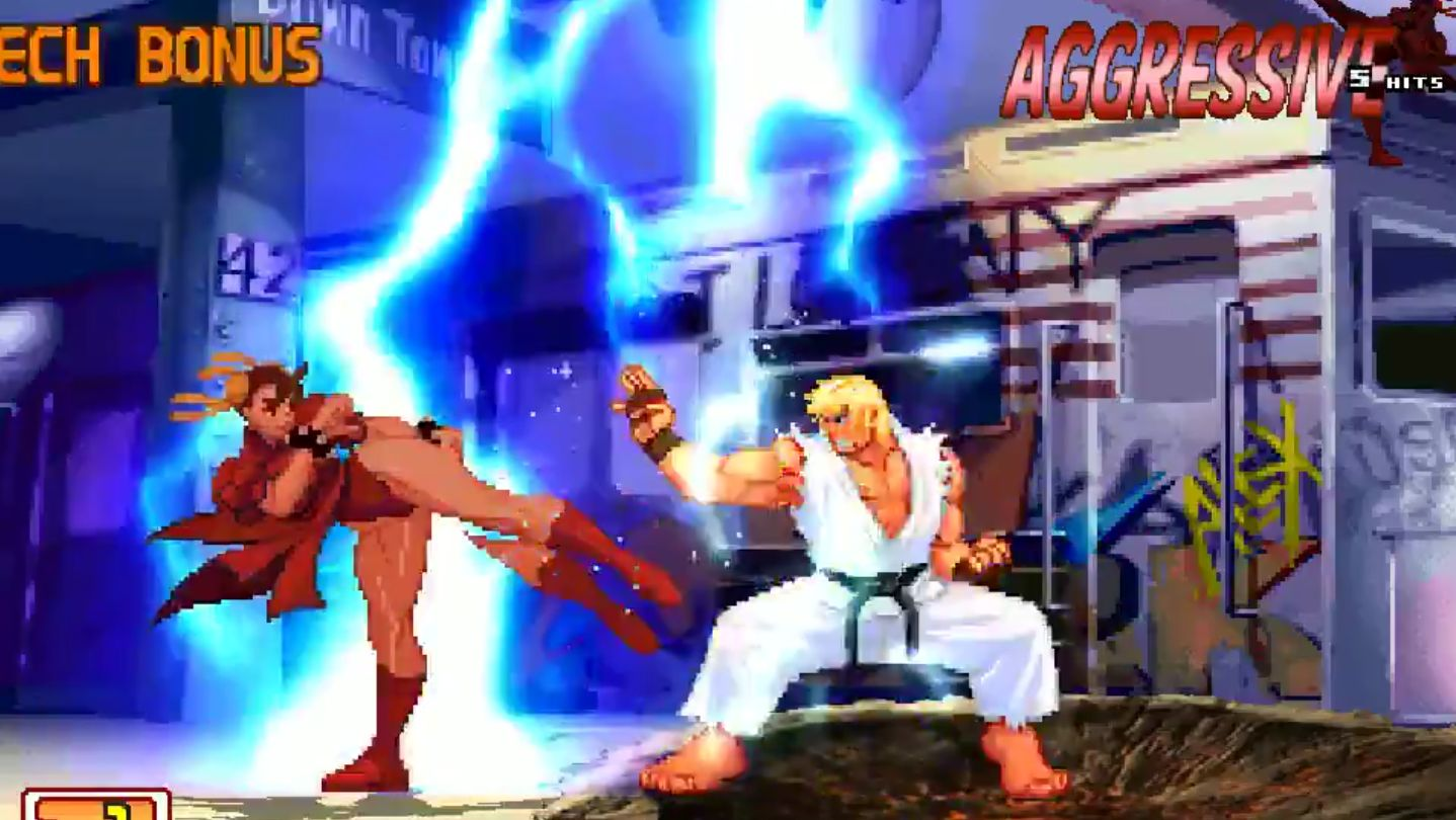 Fighting game bots create hell version of famous EVO moment