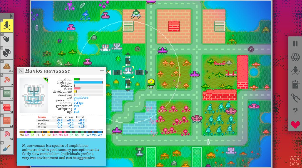 Vilmonic - Artificial life simulator/sandbox game - Games - Quarter