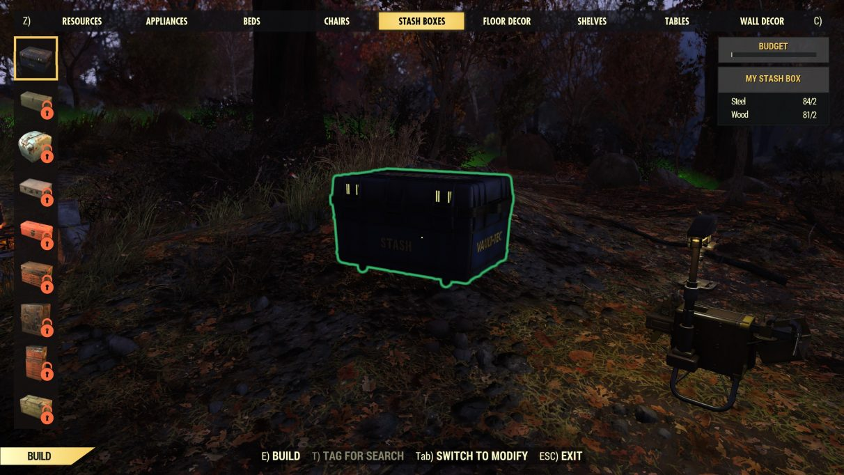 Fallout 76 CAMP building