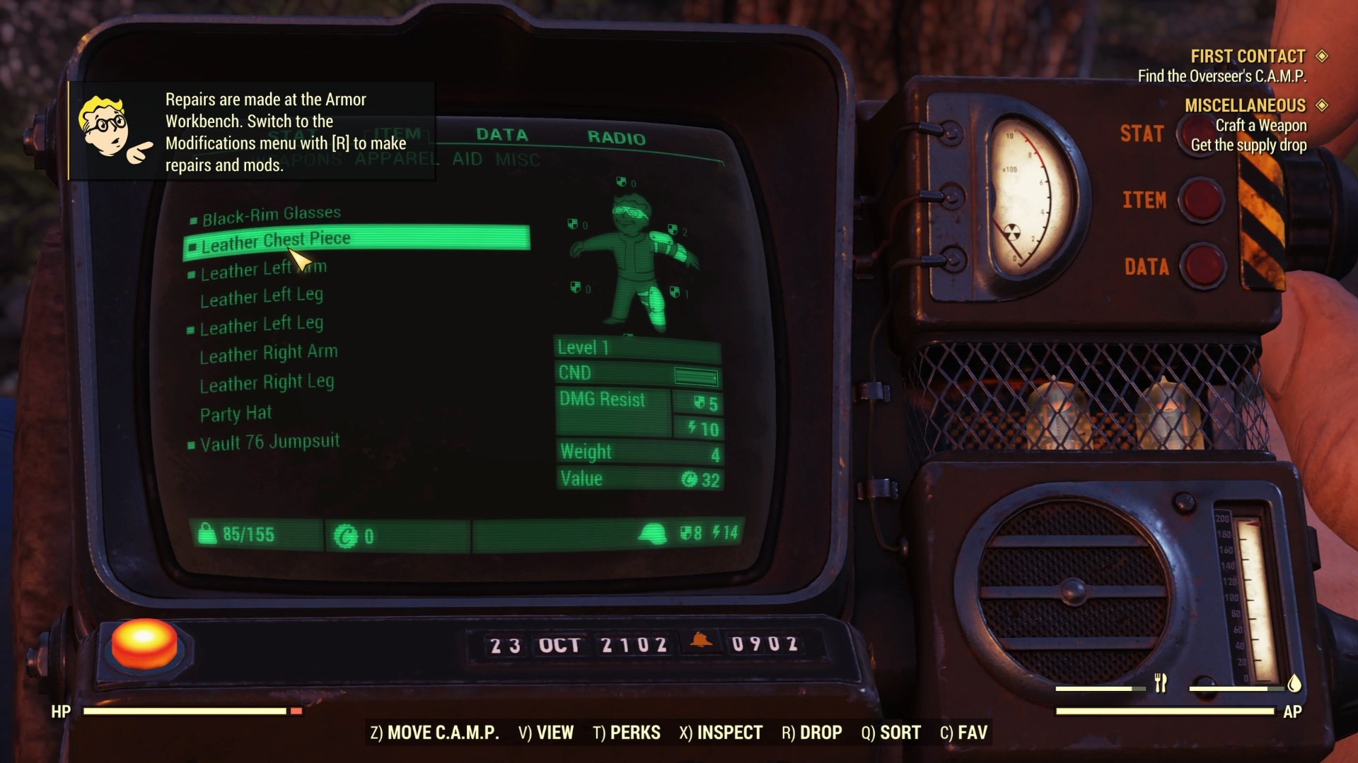 Fallout 76 crafting: finest armour to make, how outfits work