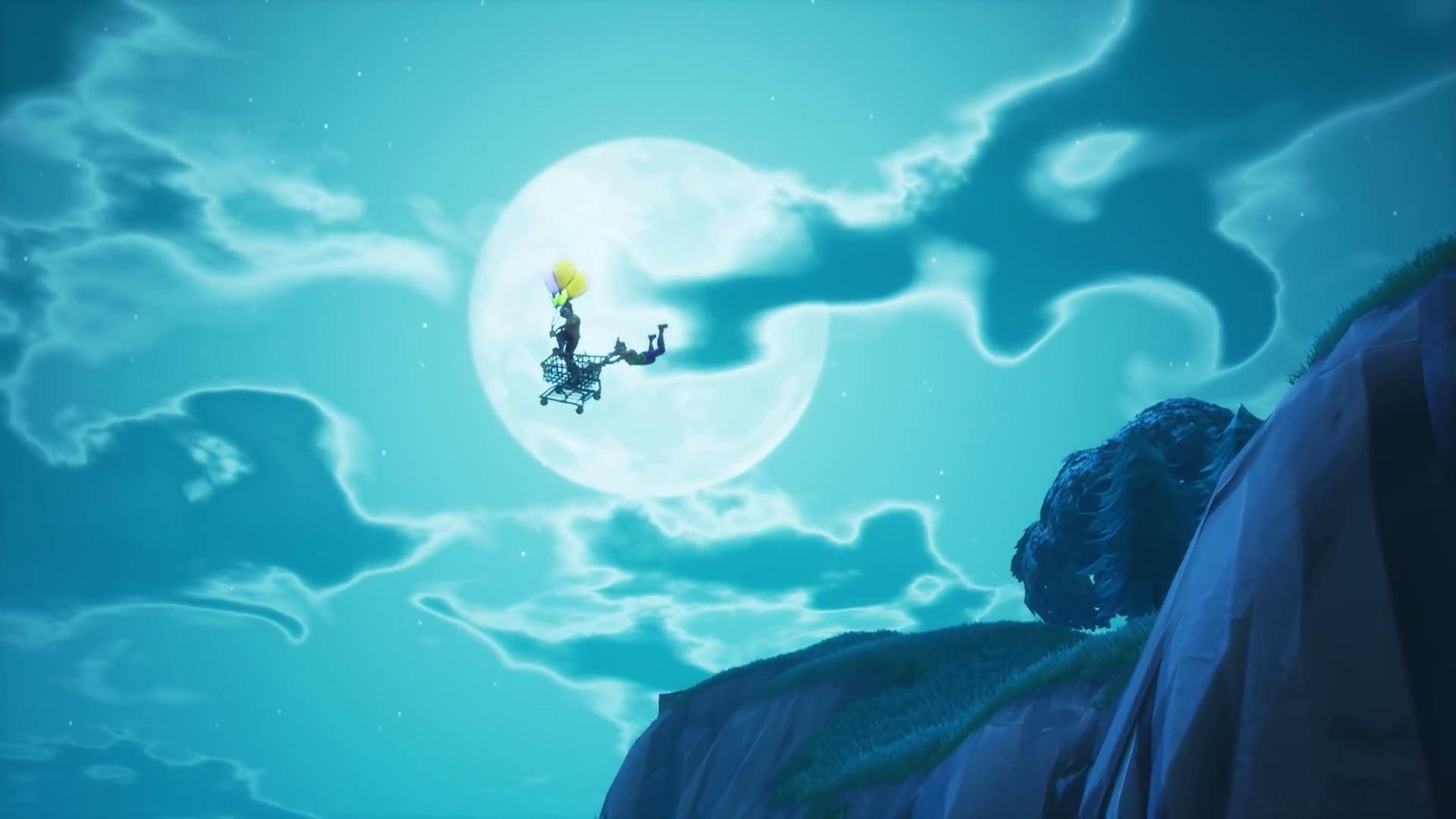 fortnite adds balloons might be about to send off kevin - fortnite penguin glider