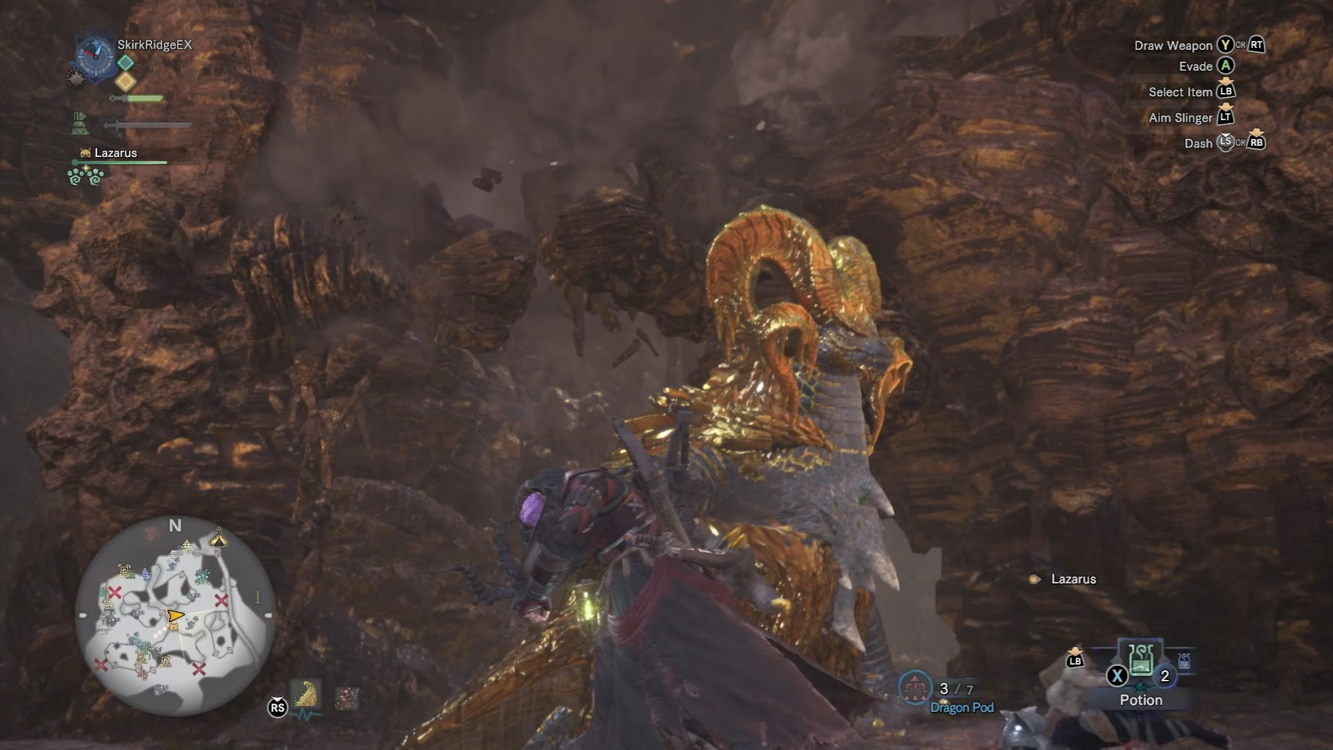 Some boulders are about to fall on Kulve Taroth.