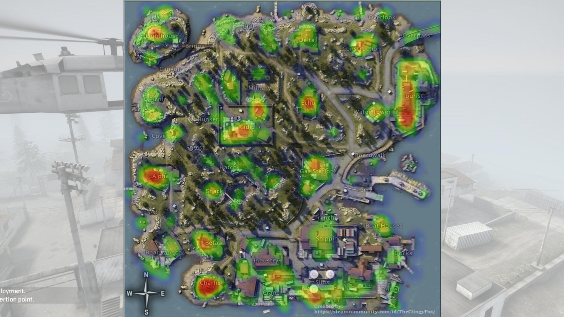 CSGO Danger Zone Blacksite map: best locations, where to
