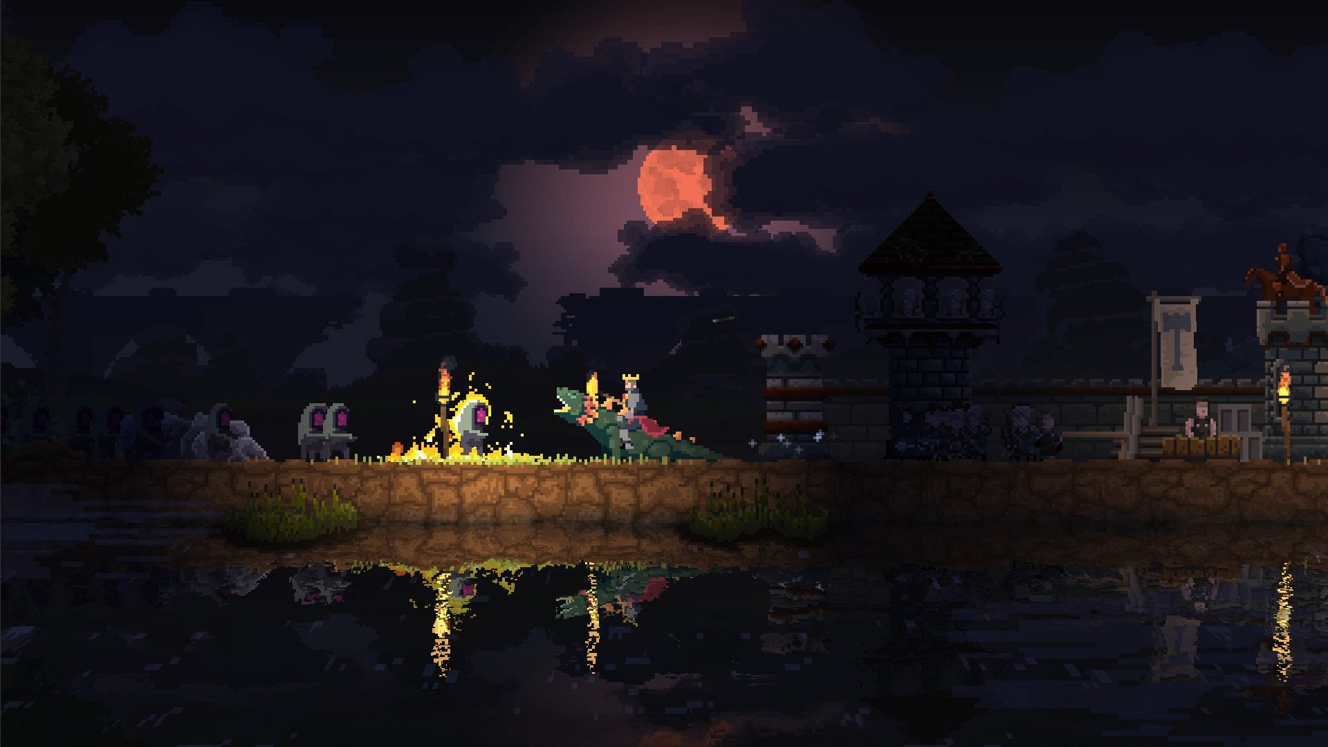 The moon is pixellated in real life, too.