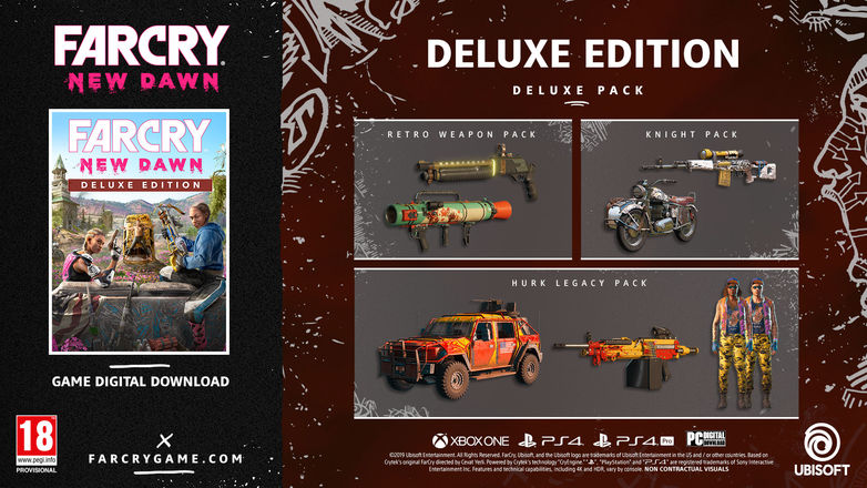 Eveyrthing that's in the digital deluxe edition of Far Cry: New Dawn