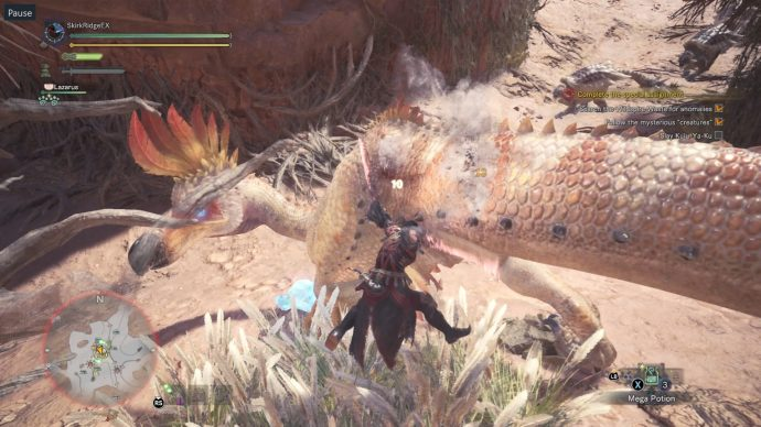 A gigantic Kulu-Ya-Ku holding onto the crystal from Final Fantasy XIV. It's much larger than the original creature.