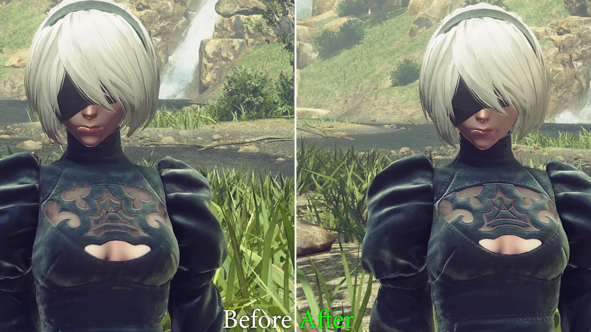 Nier: Automata's high-res texture pack looks great | Rock