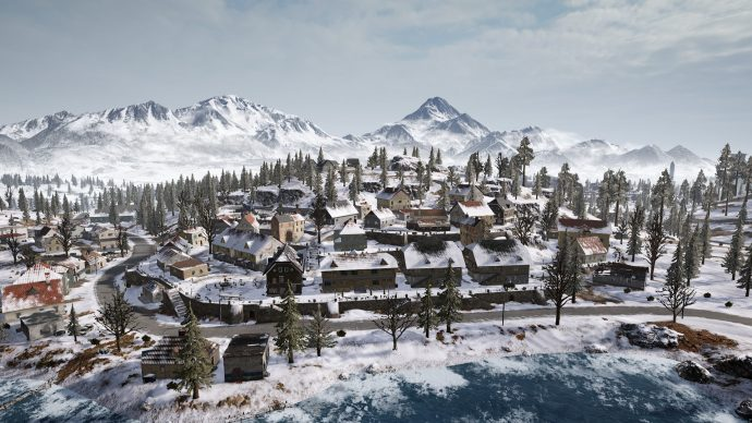 An overview of Goroka in Plunkbat's Vikendi map