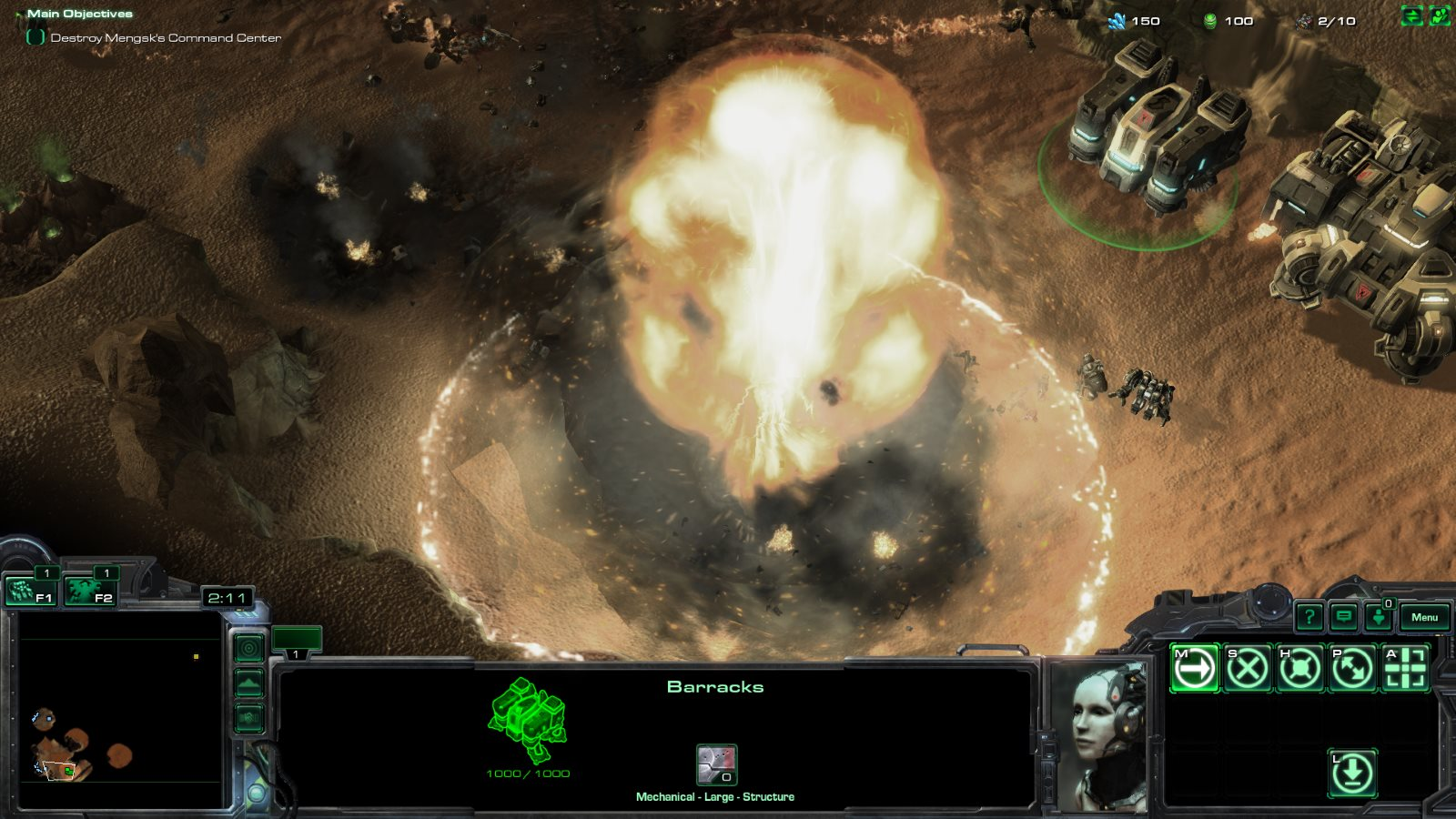 StarCraft 2's nuke effects make some missions a bit more intense.