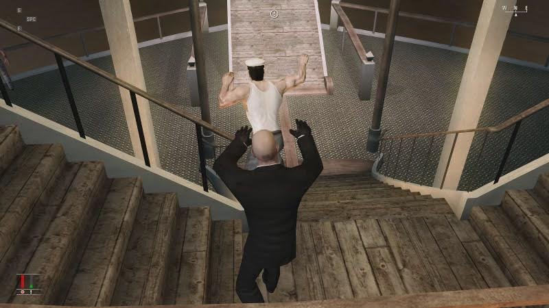 The Joy Of shoving people in Hitman: Blood Money