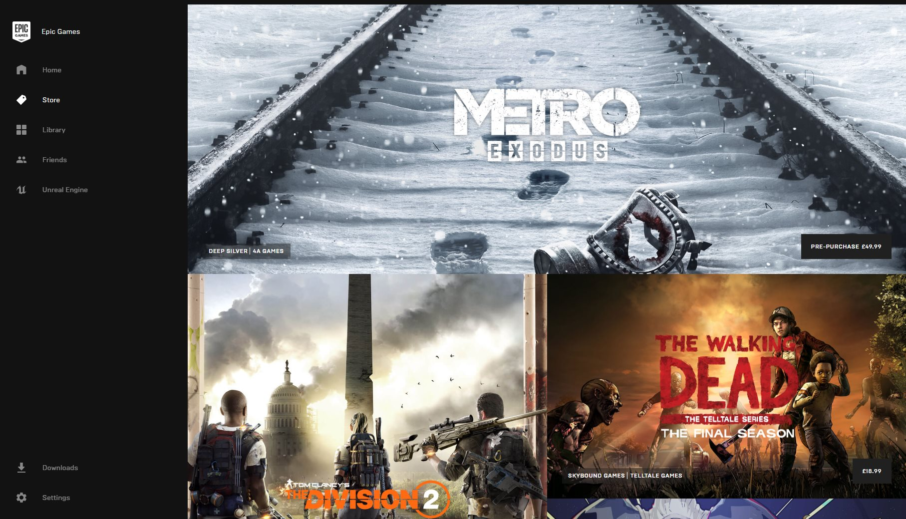 Epic making Metro Exodus an exclusive will not help | Rock Paper Shotgun