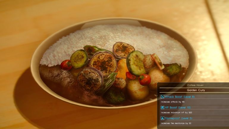 Overthinking Games: Final Fantasy XV's love of food
