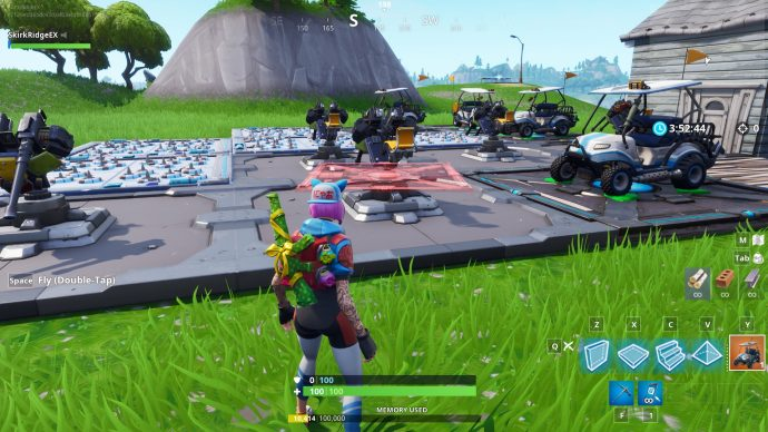 Player has put lots of devices in the Creative Mode.