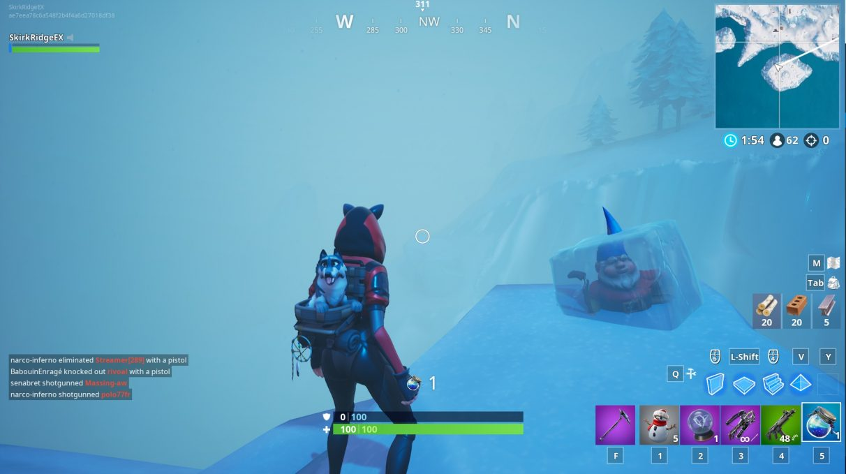 fortnite chilly gnome locations search for chilly gnomes - fortnite position camera