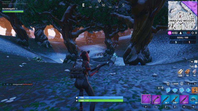 The mysterious hatch in question in the Wailing Woods.