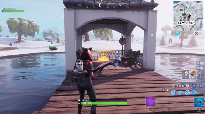 The no dance sign in the gazebo next to Lazy Links.