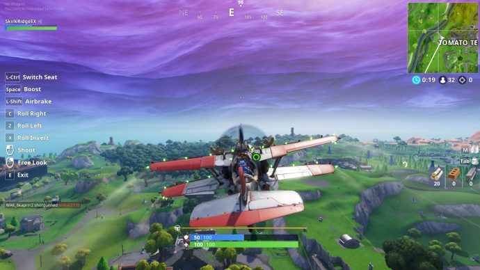 Playing the X-4 Stormwing just over the Tomato Temple.