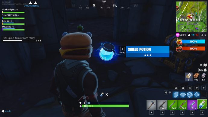 Shield potion in Fortnite