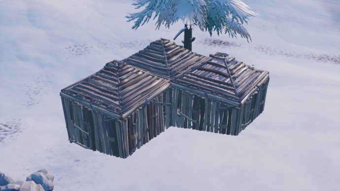 A 3x1 building created to turtle. It has a roof.