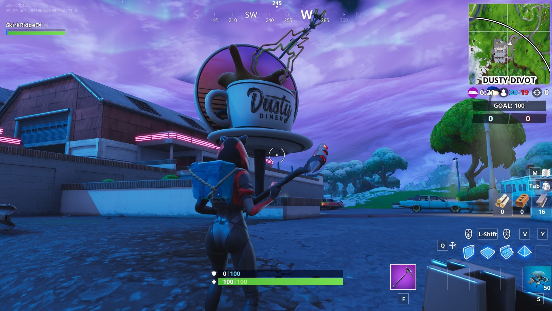 an oversized coffee cup near dusty divot - places to dance in fortnite