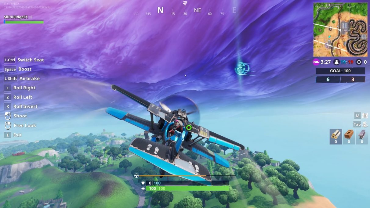 fortnite plane time trial the easiest two time trial courses - fortnite time