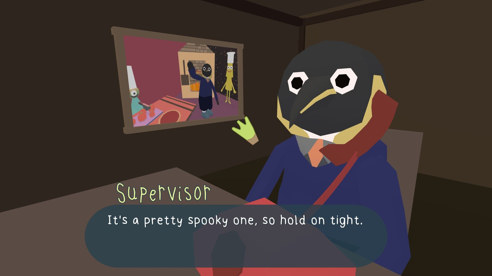 Supervisor Penguin takes an equally important call.