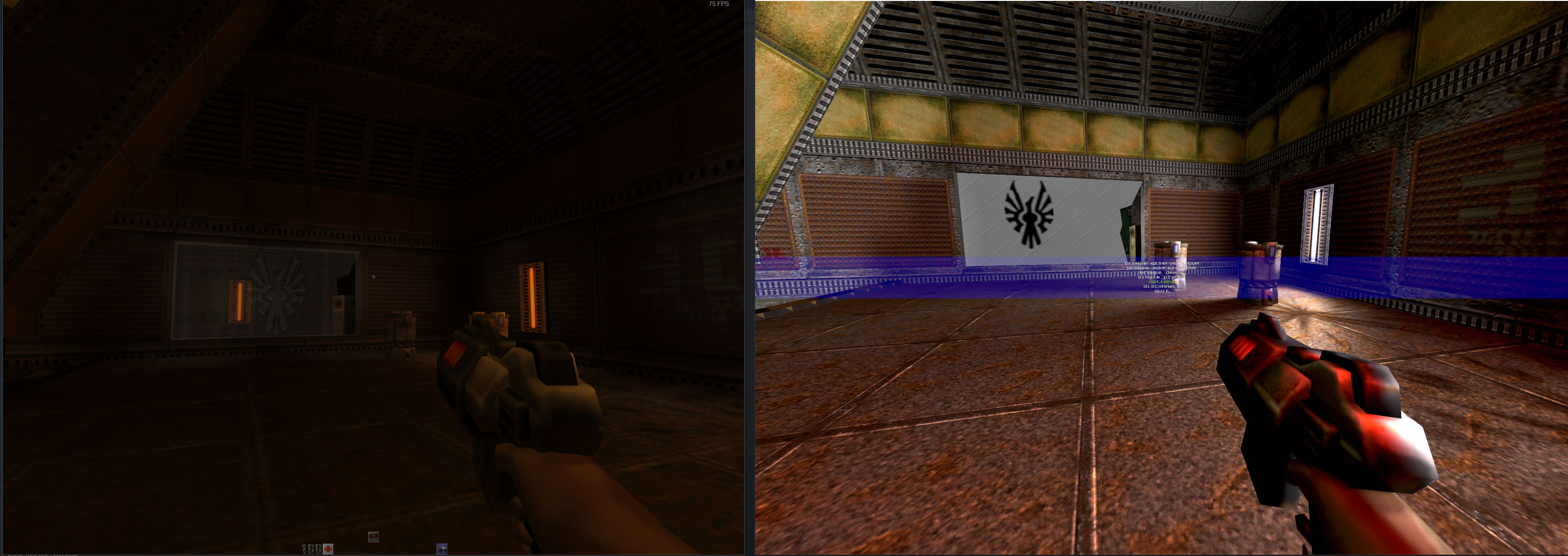 Now I've tried raytraced Quake II, and it's a dark delight