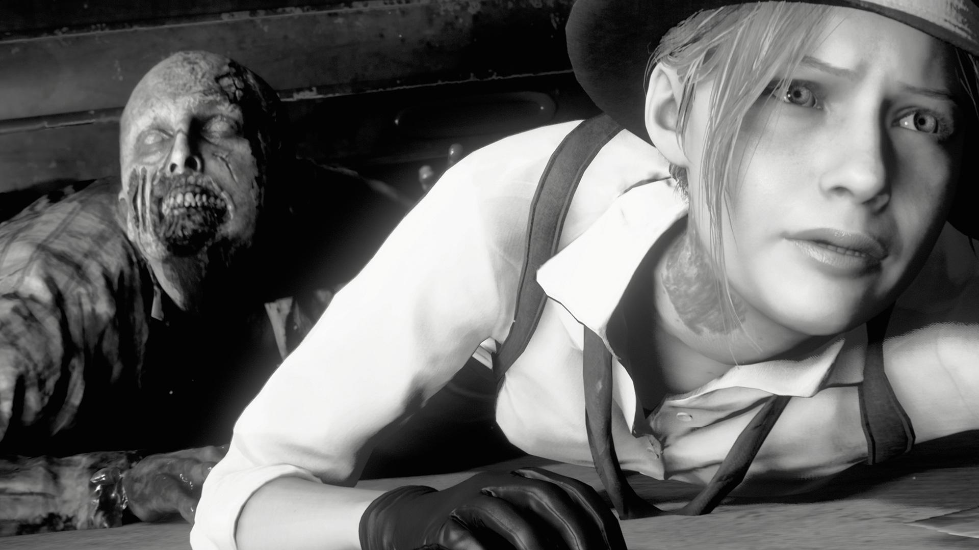 Resident Evil 2 in Noir mode is twice as scary | Rock Paper