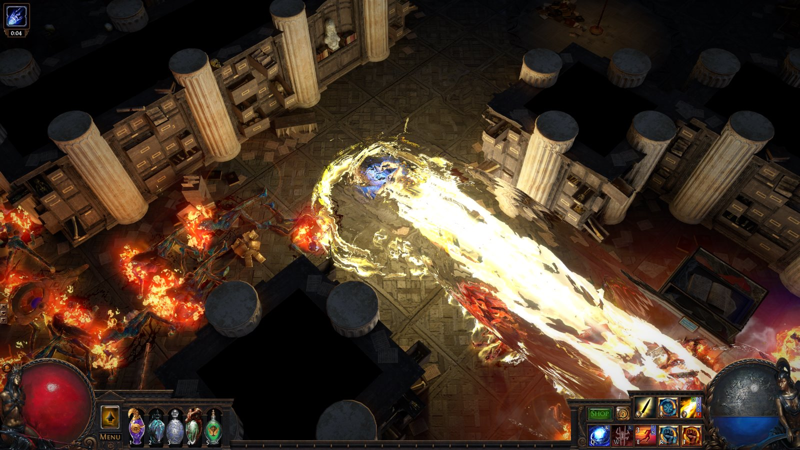 The Divine Ire skill in Path Of Exile's upcoming Synthesis league. A big honkin' anime death laser.