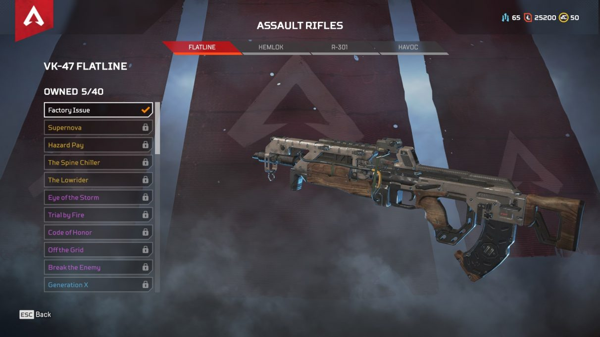 Flatline apex legends