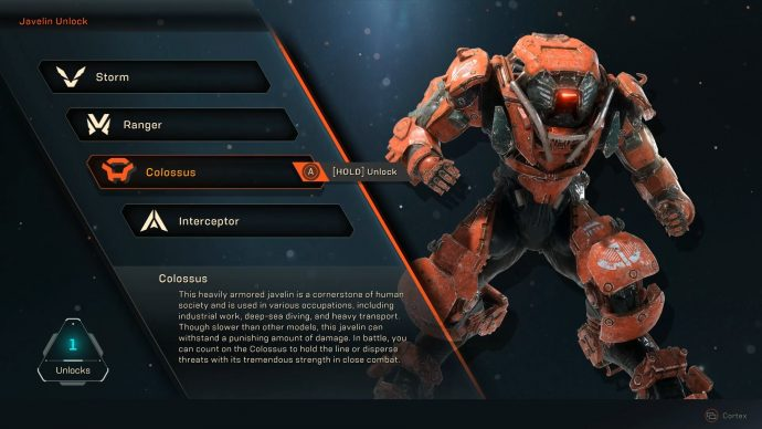 Anthem Javelins Ranger Builds Colossus Builds Interceptor Builds